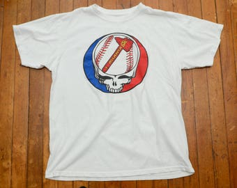 Grateful Dead Atlanta Braves Baseball Large T Shirt