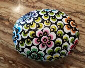Rock Mandala Flowers