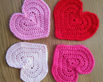 Assorted heart coasters