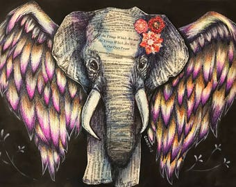 Paper Elephant (original or print)