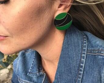 Vintage 80s statement earrings. Retro/modern look