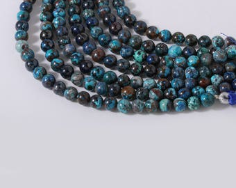 Chrysocolla Plain Rounds 20 cm 6 mm Approx
