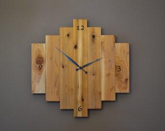 Large Cedar Wall Clock