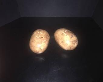 Potato salt and pepper shakers
