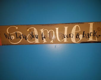 Custom~Handmade to order~Primitive Personalized Sign