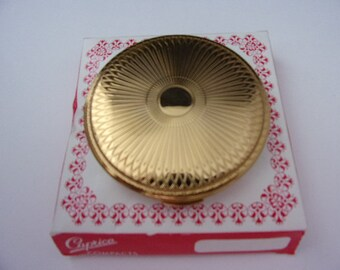 Vintage English Stratton gold powder compact in box never used