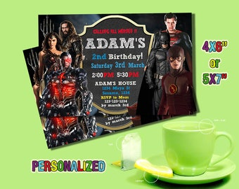 Justice League,Justice League Invitation,Justice League Printable,Justice League Card,Justice League Party,Justice League Birthday,Boy,Boys