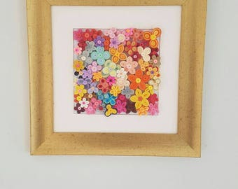 Quilling Flowers, Paper flowers, Wall art