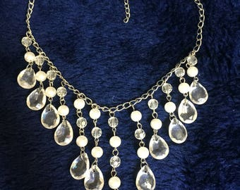 Synthetic pearl drop Necklace