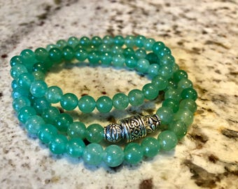 Jade Glass Beaded Bracelet