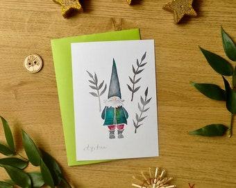 Winter Gnome - A6 print