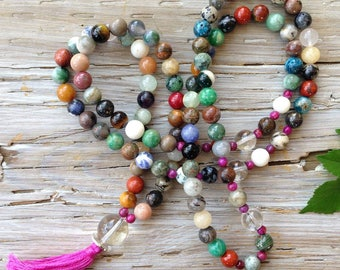Mala necklace multicolor happiness