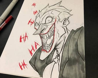 Joker original Inked Sketch