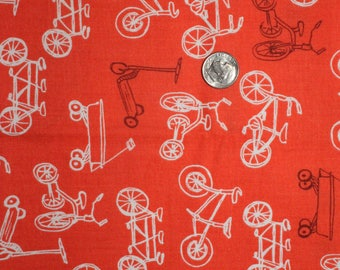 Sarah Jane for Michael Miller, Children at Play, On the Go in Coral DC5151 - 1/2 Yard