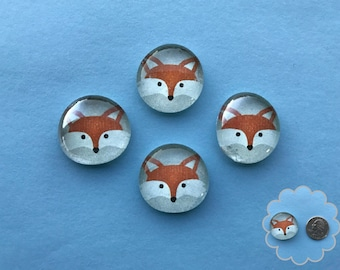 Foxy- Glass Gem Magnets
