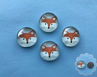 Foxy- Glass Gem Magnets