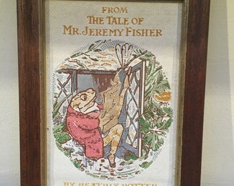 J & J Cash Ltd Woven Silk Picture 1895 Beatrix Potter Jeremy Fisher