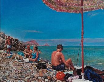 "Oil on canvas ""Super Santos"", oil on canvas, CM 50x70"
