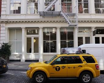 Soho Cab Print - New York City Photography
