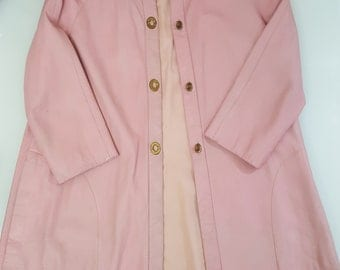 VINTAGE 1960s BONNIE CASHIN Leather Coat; Mod style