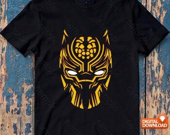 Black Panther Iron On Transfer, Black Panther Birthday Shirt DIY, Black Panther Shirt Designs, Black Panther Printable, Digital Files