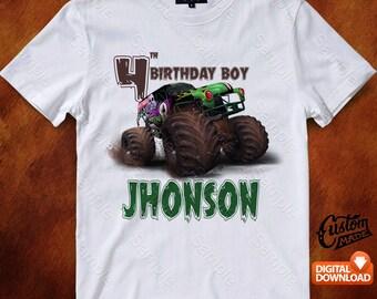 Monster Jam Iron On Transfer, Monster Jam Birthday Shirt DIY, Monster Jam Shirt Designs, Monster Jam Printable, Personalize, Digital Files