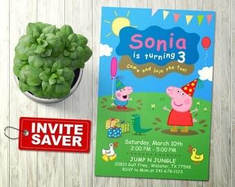 Peppa Pig Invitation, Peppa Pig Birthday Invitation, Peppa Pig Birthday, Peppa Pig Party, Peppa Pig