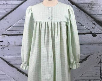 Size 8 & 12--Girl's Cotton Flannel Gown