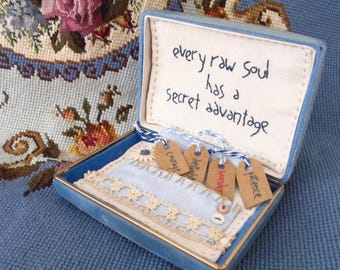 Altered Art Jewelry Box - The Soul's Adventage - Embroidery