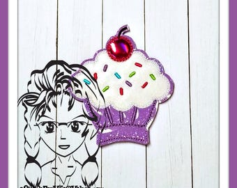 CuPCAKE Center (Add On Only ~ 1 Piece) ITH Mr Miss Mouse Ears Headband ~ INSTANT Machine Embroidery Download Design by Carrie