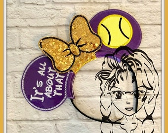 ALL ABoUT that TeNNIS (3 Piece) Mr Miss Mouse Ears Headband ~ In the Hoop ~ Downloadable DiGiTaL Machine Emb Design by Carrie