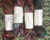 Small Batch Handspun wool silk alpaca