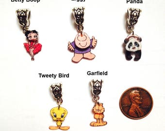 New for Christmas 2017! Handcrafted Tiny 3D Cartoon Character Charms for Bracelets, Necklaces, Zipper Pulls, etc!