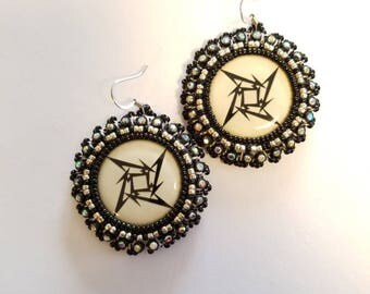 M Star Beaded Earrings