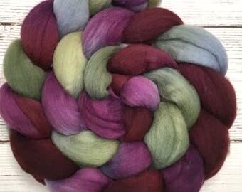 Handpainted Targhee Wool Roving - 4 oz. POTTERY - Spinning Fiber