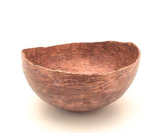 Hand hammered  copper offering bowl ready for seeds, magic, incense, acorns, your nature table...