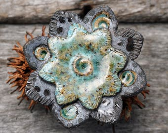 JUMBO Handmade Stoneware Shank Button