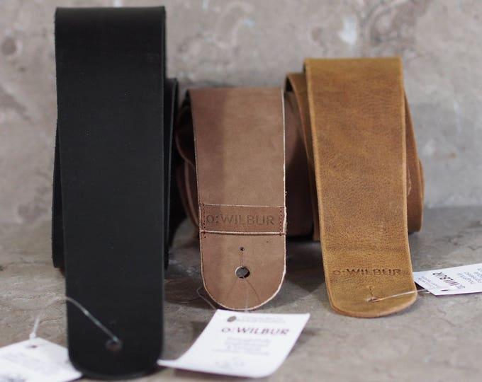 Single Color Leather Guitar Strap