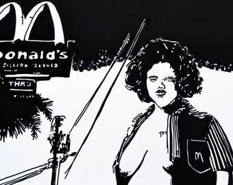 4x6 Art Print Minimum Wage Fast Food Worker