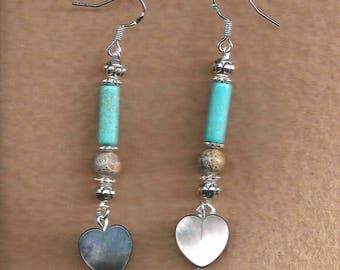 ON SALE Shell Heart Earrings