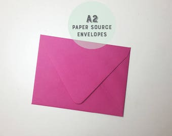 Pink Envelopes - A2 (4 3/8X5 3/4) size - Euro flap - Paper Source - Fuchsia Color - On Sale - Party Invitations