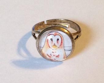 Barn Owl Art Ring