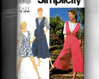 Simplicity Missses' Jumpsuit In Two Lengths , Jumper and Top Pattern 7322