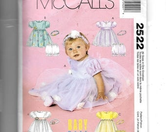 McCall's Infants' Dresses, Panties and Headbands Pattern 2522