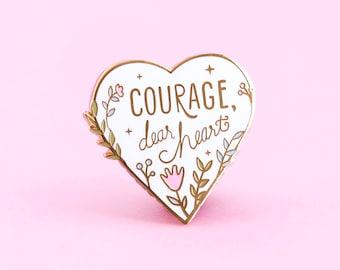 Courage Enamel Pin - Pastel Version |  Lapel Pin - Enamel pins - Narnia pin
