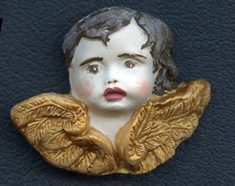 Art Nouveau Angel Cab Polymer Clay ANG 2