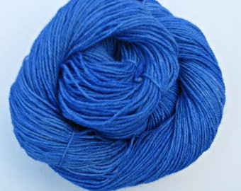 Blue Alpaca and Wool Yarn, 3 ply Sock Yarn, 250 yards, Farm Grown and Made in Michigan