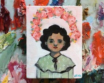 Oil painting portrait - Miriam - Original art