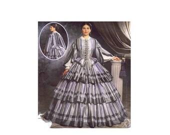 SALE Simplicity 9761 Civil War Dress Martha McCain Fashion Historian Sewing Pattern Size 6 - 8 - 10 - 12 UNCUT
