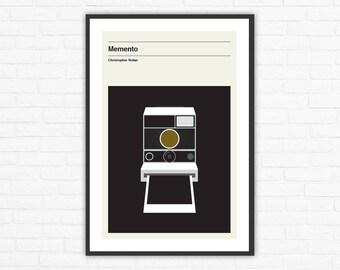 Memento, Christopher Nolan, Minimalist Movie Poster